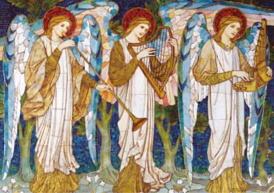 Angel Mosaic Personalised Christmas Card