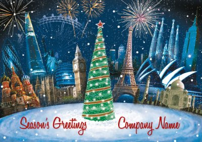 Global Celebrations Personalised Christmas Card