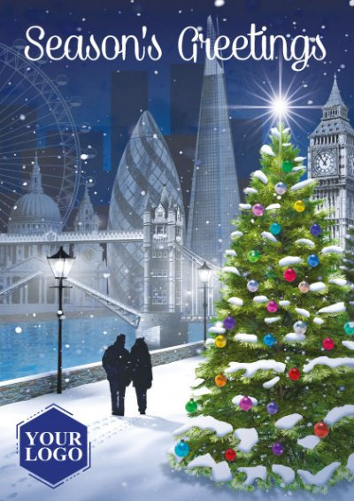 City Walk Personalised Christmas Card