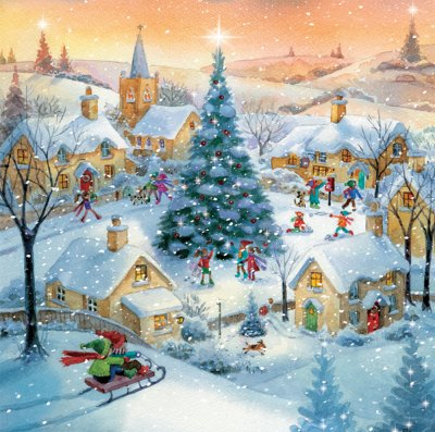 Christmas Village Personalised Christmas Card