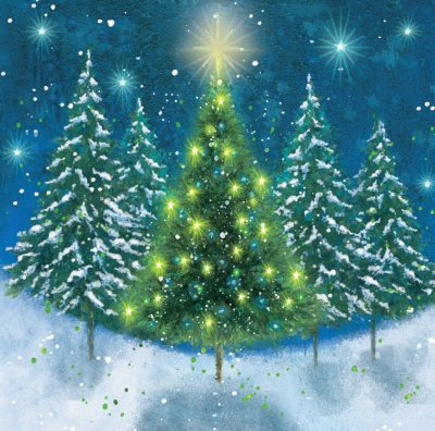 Tree of Light Personalised Christmas Card