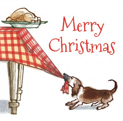 The Dog's Dinner Personalised Christmas Card