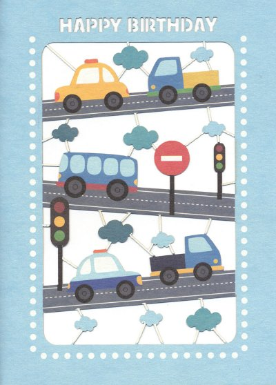 Cars and Trucks Birthday Card