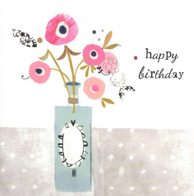 Pink Buds Birthday Card