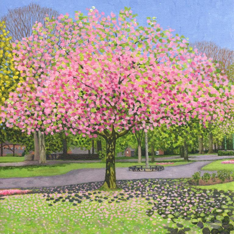 Blossom in the Park Greeting Card