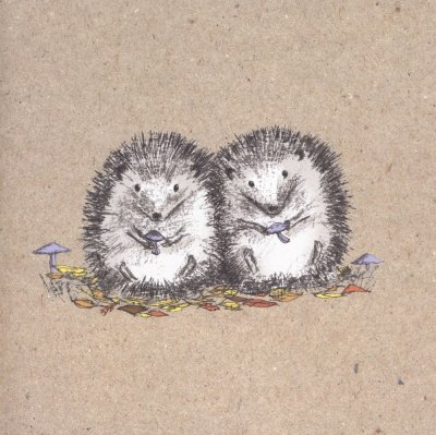 Cute Hedgehogs Greeting Card