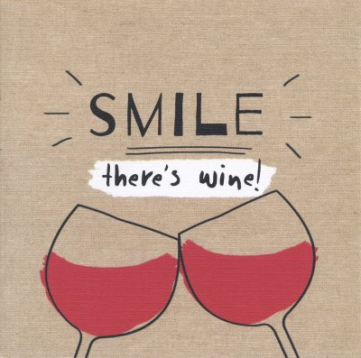 There's Wine Greeting Card