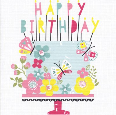 Butterfly Cake Birthday Card