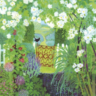 English Country Garden Greeting Card