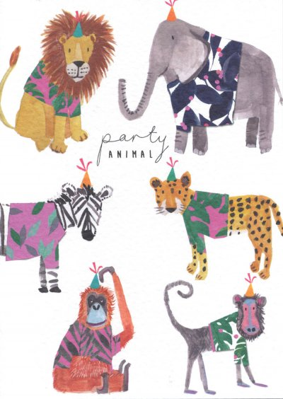 Wild Animals Birthday Card