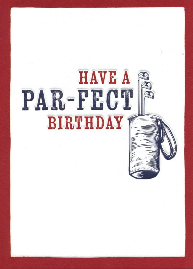 Par fect Golfing Birthday Card