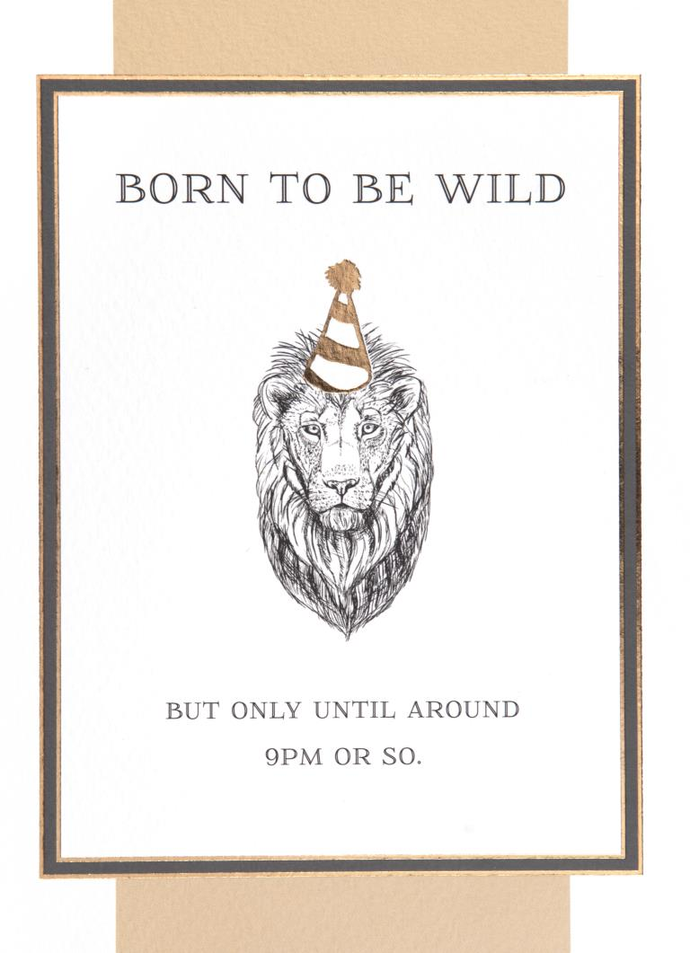 Born to be Wild Birthday Card