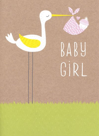 Girl New Baby Card