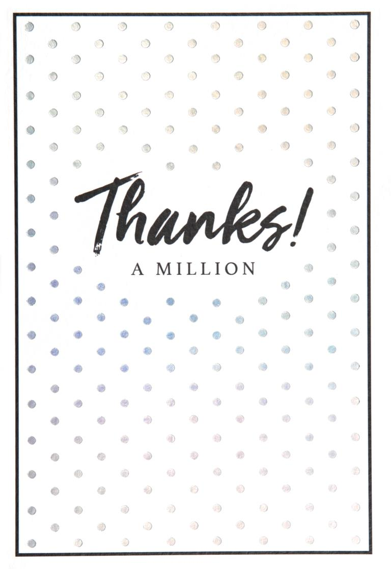 Spots Thank you Card