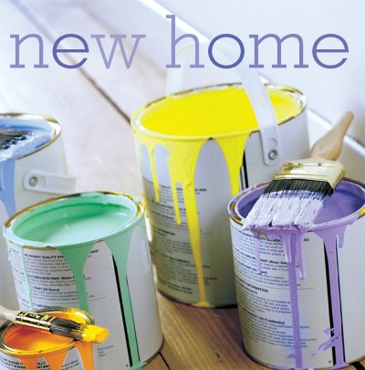 Paint Buckets New Home Card