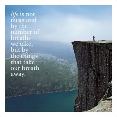 Take our Breath Away Greeting Card