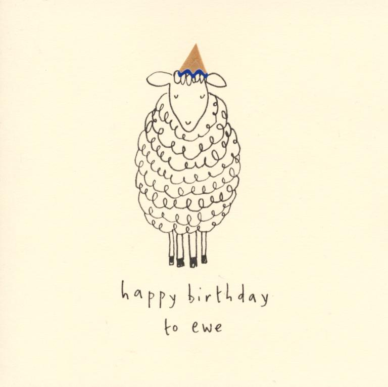 To Ewe Birthday Card