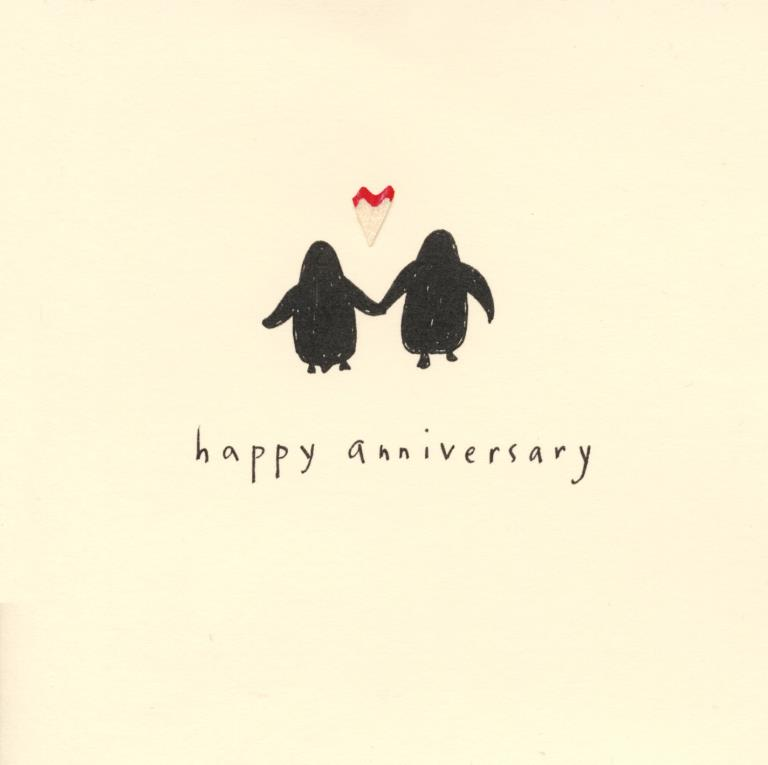 Penguins Anniversary Card