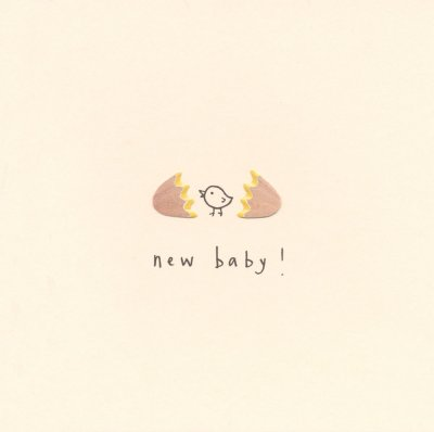 Chick New Baby Card