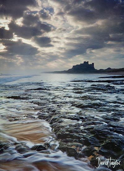 Sunburst Bamburgh Castle Greeting Card