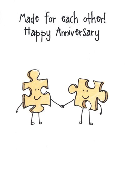 Puzzle Anniversary Card