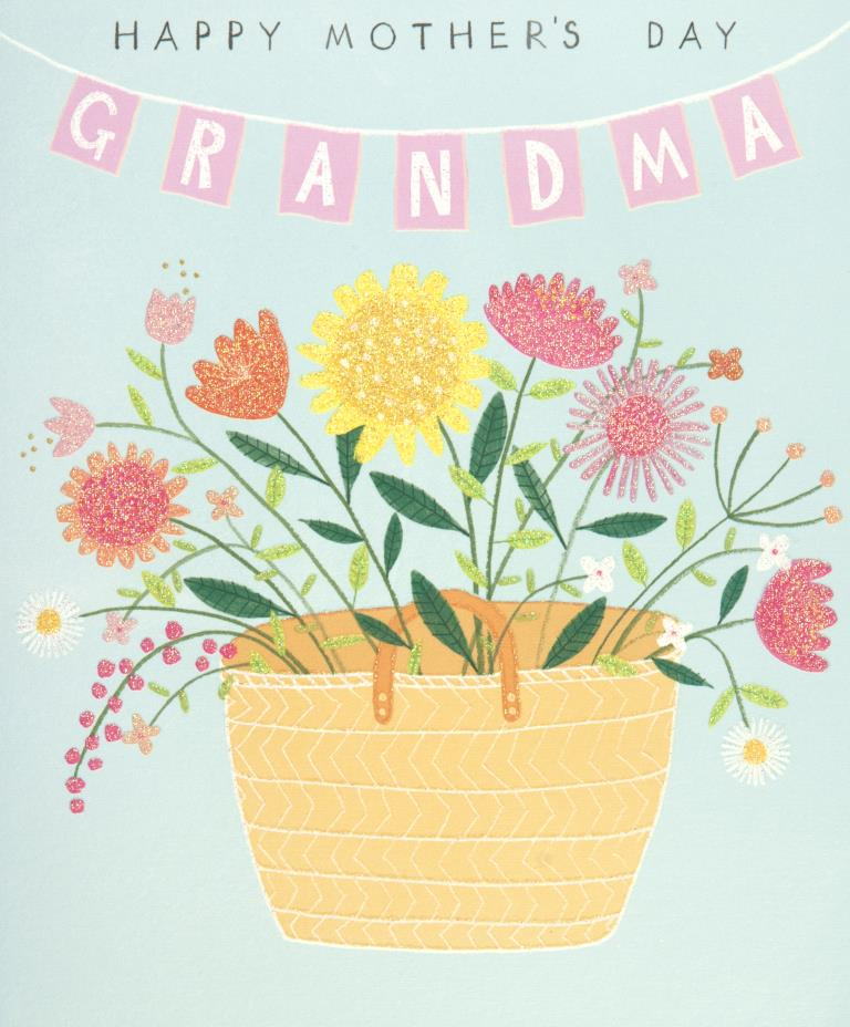 Grandma Basket Mother's Day Card