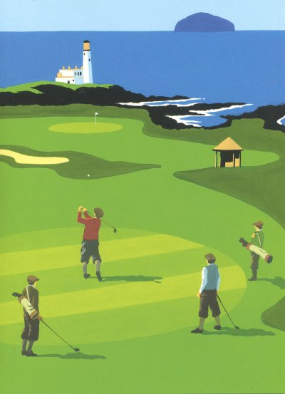 Golf at Turnberry Greeting Card
