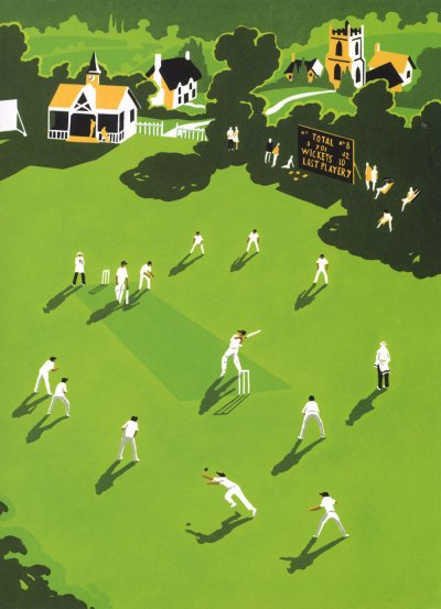 Cricket Match Greeting Card