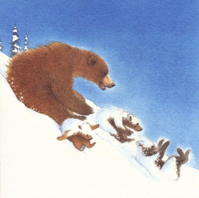 Snow Bears Sledging Christmas Pack (8)