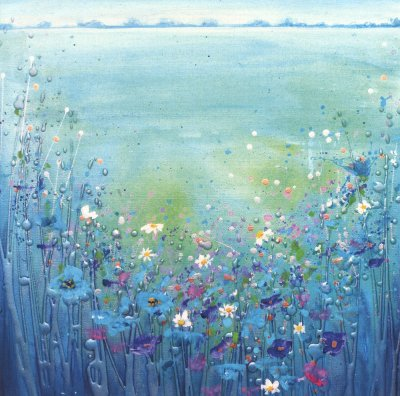Blue Meadow Greeting Card