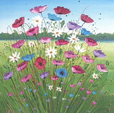 Poppies & Daisies Greeting Card