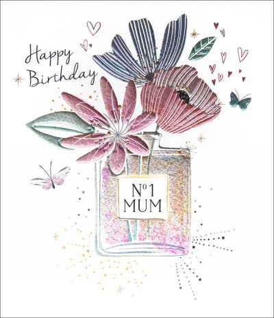 No 1 Mum Perfume Birthday Card