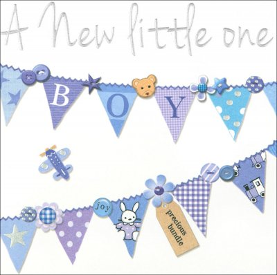 Little One New Baby Boy Card