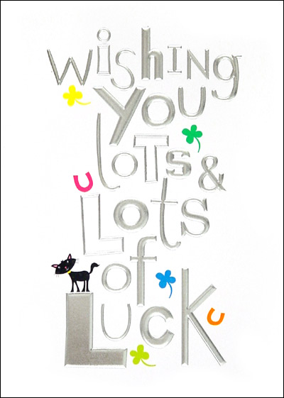 Wishing You Lots of Luck Good Luck Card