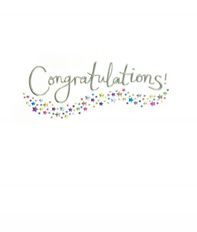 Holographic Stars Congratulations Card