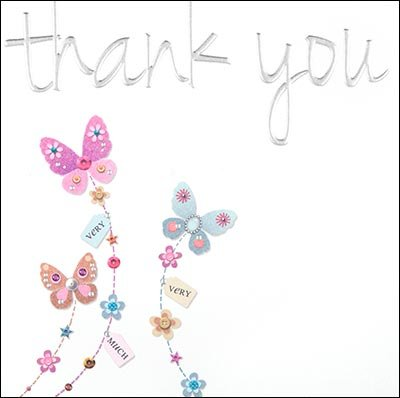 Butterflies Thank you Card