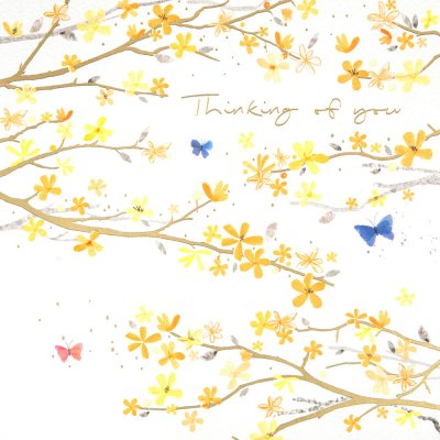 Yellow Branches Thinking of You Card