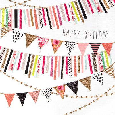 Colourful Bunting Birthday Card