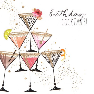 Cocktails Birthday Card