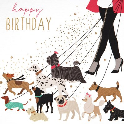 Walkies Birthday Card