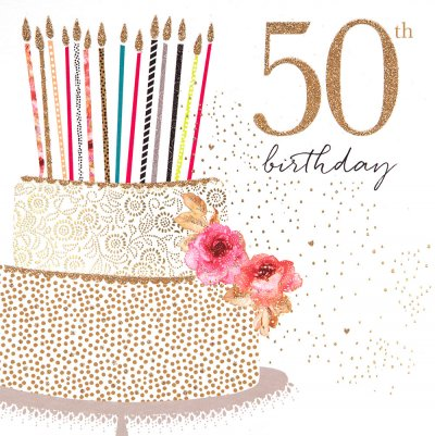 50th Cake Birthday Card