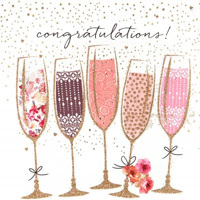 Fizz Congratulations Card