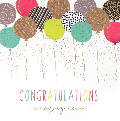Amazing News Congratulations Card