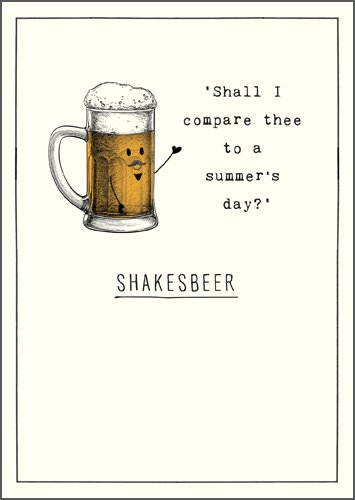 Shakesbeer Greeting Card