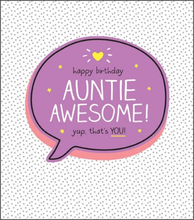 Auntie Awesome Birthday Card