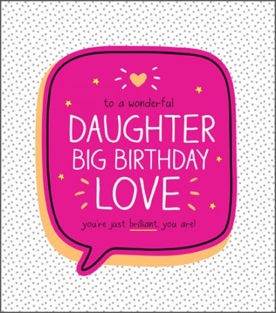 Brilliant Daughter Birthday Card