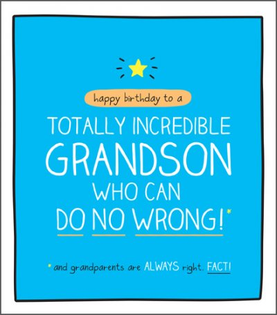 Totally Incredible Grandson Birthday Card