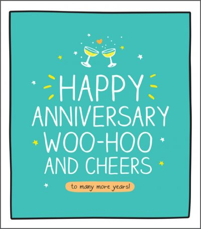 Cheers to More Years Anniversary Card