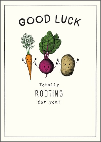 Rooting for you Good Luck Card