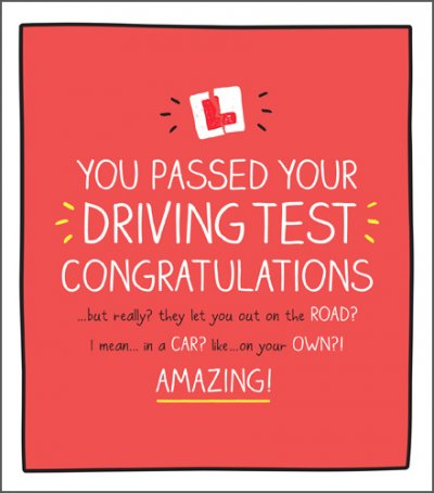 Driving Test Congratulations Card